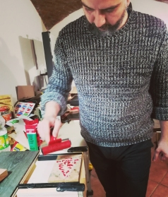 The inking process